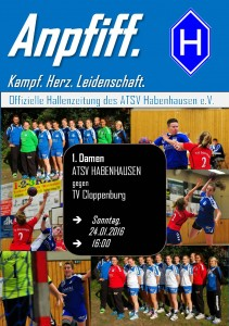 Deckblatt 1. Damen TV Cloppenburg